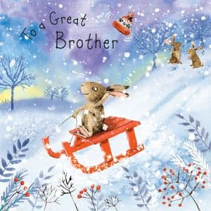 WF19 - Merry Christmas Card for Brother